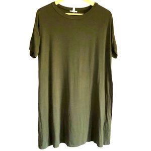 Silence + Noise Crewneck jersey tshirt dress